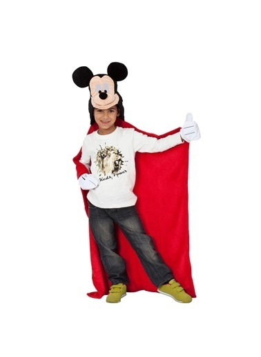 Linens Linens Disney Mickey 3D Throw Battaniye Renkli